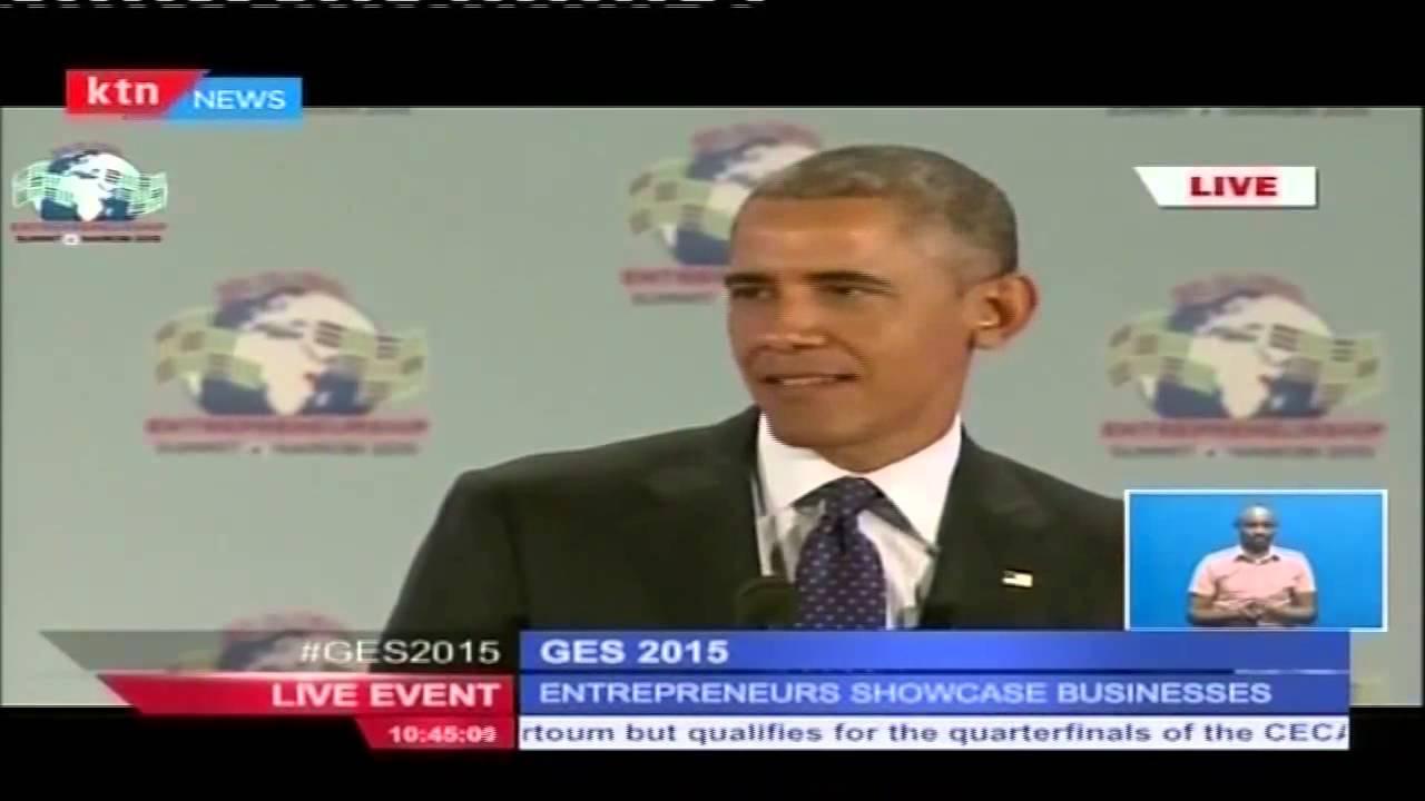 US President Barack Obama speaks Kiswahili during Global Entrepreneurship  Summit