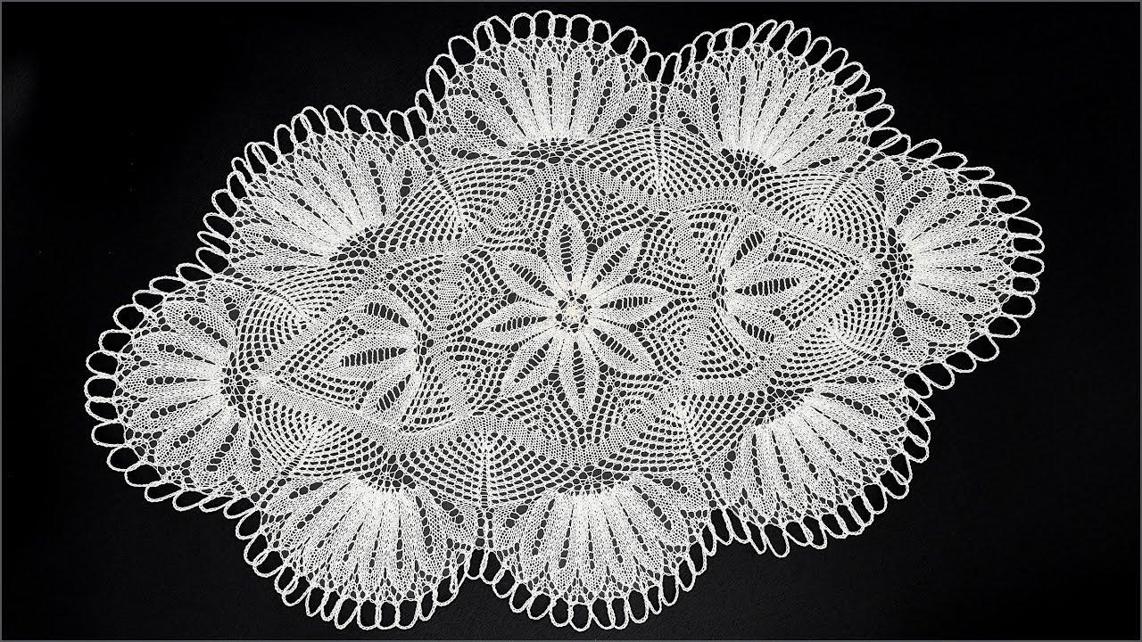 вязание крючком ажурной салфетки валентина подольская