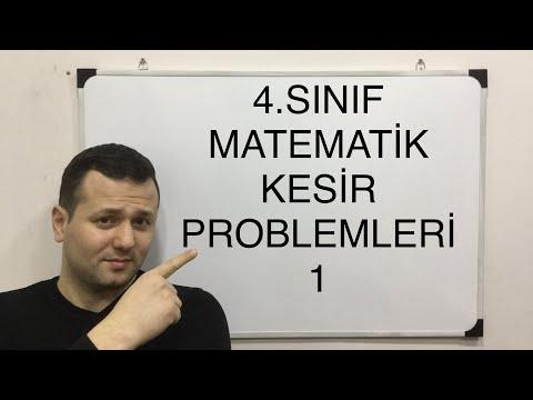 4 SINIF MATEMATİK KESİR PROBLEMLERİ 1   #kadirhoca