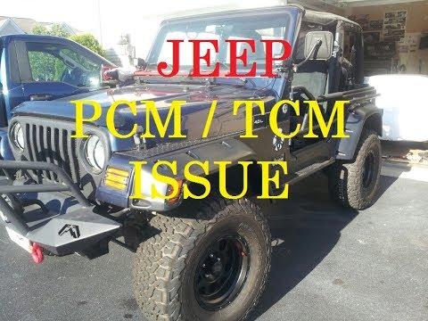 TCM problems - Jeep Wrangler TJ - codes P1603 P1604 P0700 - YouTube