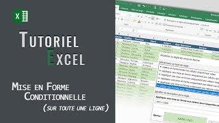 Excel | Mise En Forme Conditionnelle sur toute une ligne