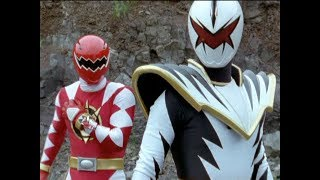 "Red Ranger Vs White Ranger Battle | Power Rangers Dino Thunder ""White Thunder"" Episode"