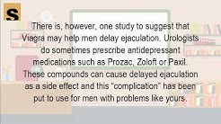 Can Viagra delay premature ejaculation
