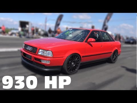 930 HP Audi 80 VR6 Quattro 0-285 KM/h TOP SPEED RUN!