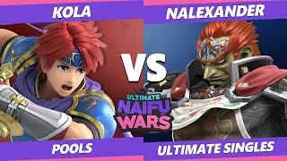 Naifu Wars 11 Pools - Kola (Roy) Vs. Nalexander (Ganondorf) Smash Ultimate - SSBU