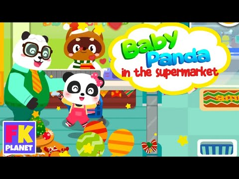 Great shopping - Baby Panda in the Christmas supermarket