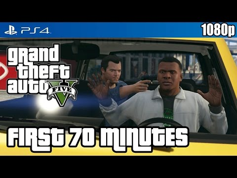 Grand Theft Auto V (PS4) First 70 Minutes...