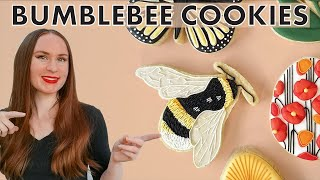 The CUTEST Bee Cookies  Spring &amp Easter Cookies Tutorial Series Part 2