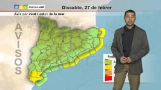 predicció per a dissabte 27 02 2016 tarda depressió provoca pluja neu vent i alteració marítima