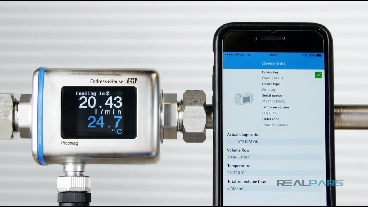 How to Setup an Endress+Hauser Picomag Flow Meter