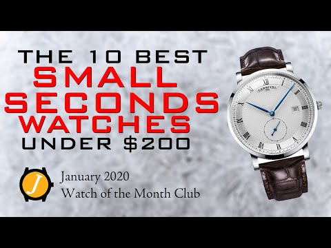 Best Small Or Sub Seconds Watches Under $200 - January 2020 Watch Of The Month Club