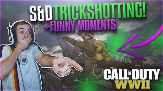 WWII S&D TRICKSHOTTING AND FUNNY MOMENTS #1