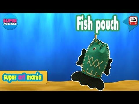 Fish Pouch Making I Diy Tutorial I Super Menace Kids