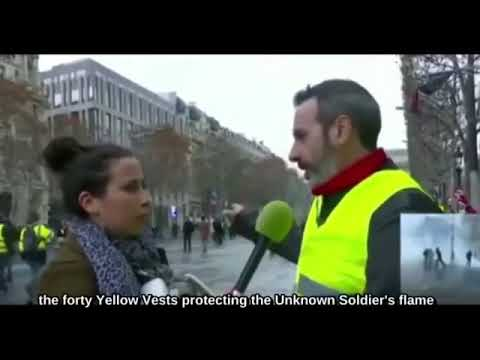 Amazingly well informed Yellow Vest protestor calls out priv