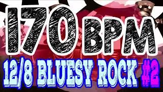 170 BPM - Blues Rock Shuffle #2 - 12/8 Drum Track - Metronome - Drum Beat