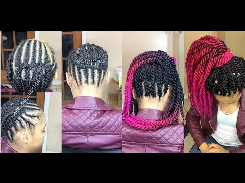 Crochet Box Braids Braid Pattern : 95. BEST BRAIDING PATTERN 4 (crochet) PONYTAIL - YouTube