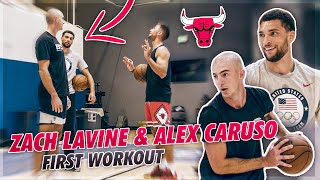 Zach Lavine and Alex Caruso Workout For The First Time! 🔥