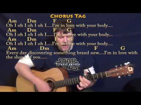 Shape Of You (Ed Sheeran) Guitar Cover Lesson With Chords/Lyrics - Capo 4th - 8th Strum