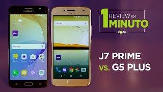 Galaxy J7 Prime vs Moto G5 Plus - COMPARATIVO | REVIEW EM 1 MINUTO - ZOOM