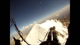 Paraglide landing on Mont-Blanc August 2012