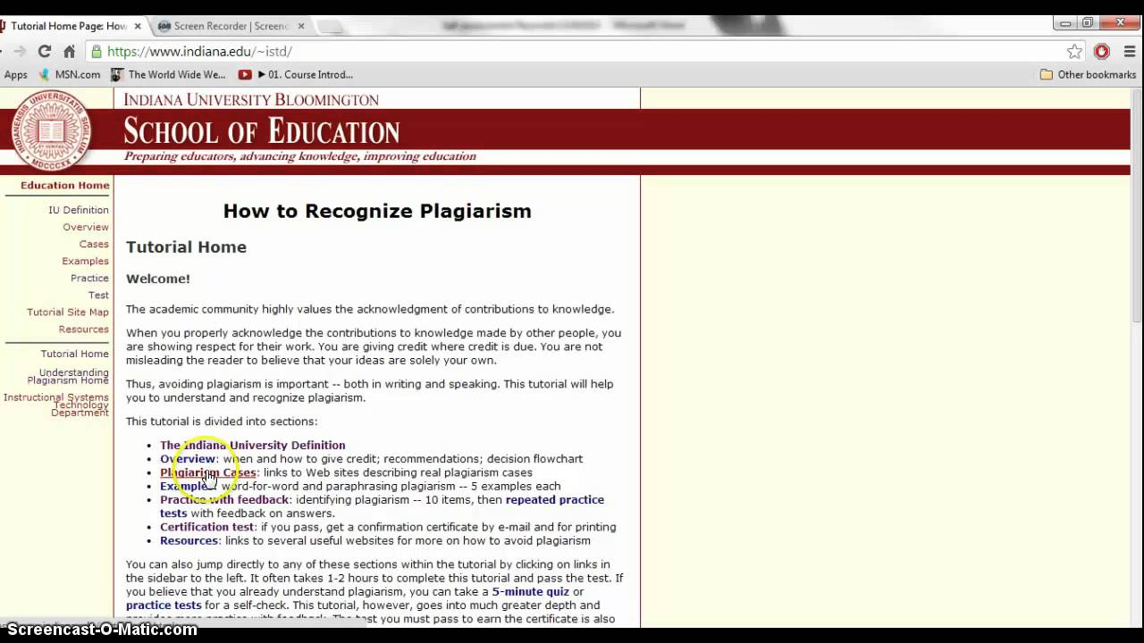 indiana university plagiarism test answers Plagiarism Tutorial 1 - YouTube