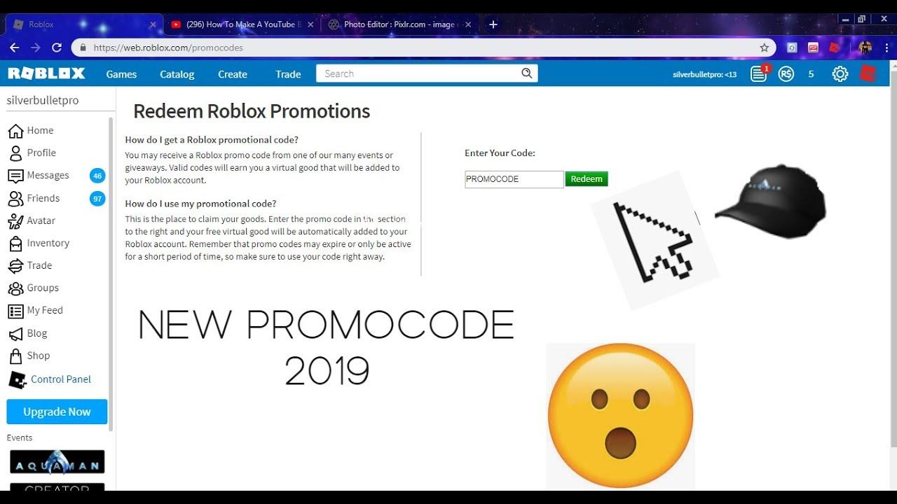 New Promocode Roblox 2019 Youtube