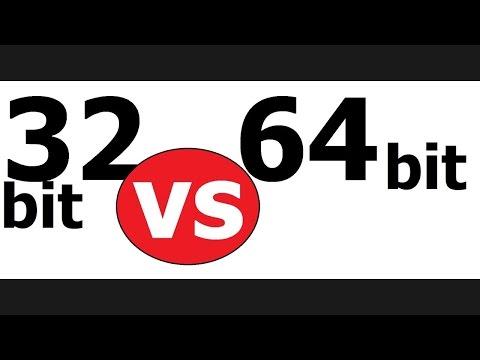32 bit vs 64 bit operating system/computers