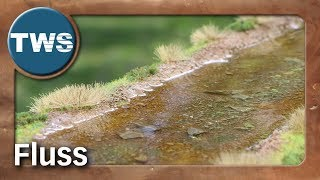 How to build a realistic river for tabletop games (wargaming terrain, waters, tutorial, TWS)