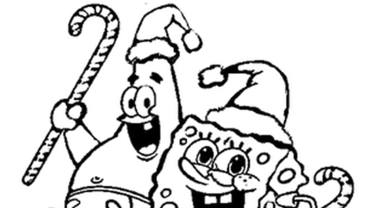 Christmas coloring pages spongebob squarepants - Christmas Coloring Pages