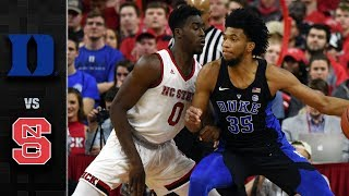 Duke vs. NC State Basketball Highlights (2017-18)