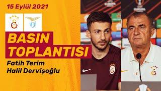 Teknik Direktörümüz Fatih Terim ve oyuncumuz Halil Dervişoğlunun GSvLazio maç önü basın toplantısı