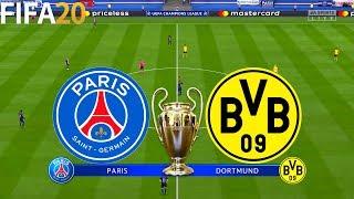 FIFA 20 | PSG vs Borussia Dortmund - UEFA Champions League - Full Match & Gameplay