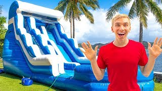 giant-backyard-inflatable-ninja-training-obstacle-course-game-master-treasure-chest-clues-found