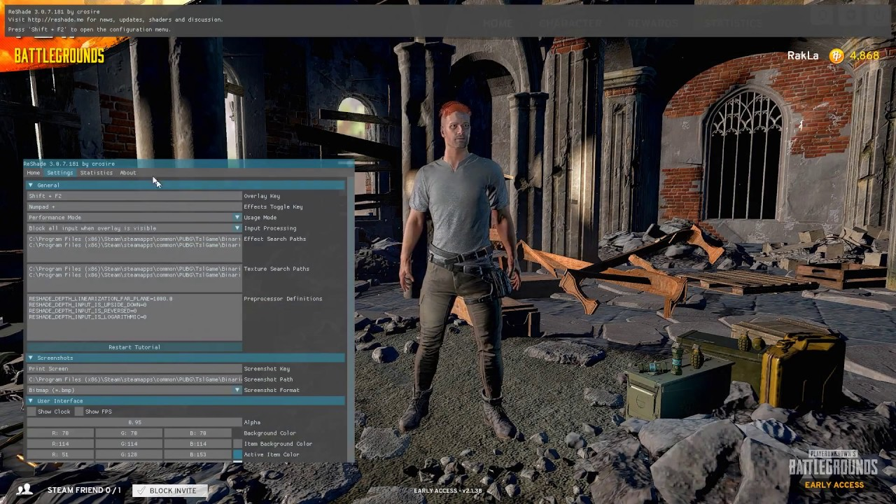 PlayerUnknown's Battlegrounds - RESHADE tutorial and settings - YouTube PlayerUnknown's Battlegrounds - RESHADE tutorial and settings