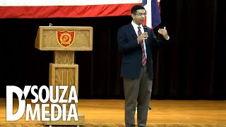 NEW: D'Souza addresses massive crowd at Marine Military Academy in Texas