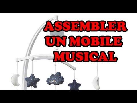 Assemblage tourniquet musique bébé ou  mobile musical pour bébé