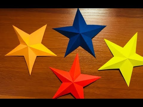 How To Make Simple & Easy Paper Star | DIY Paper Craft | Origami Tutorial
