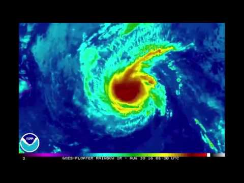 Satellite imagery of Hurricane Madeline in the Pacific