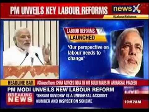 PM Narendra Modi unveils new labour reform