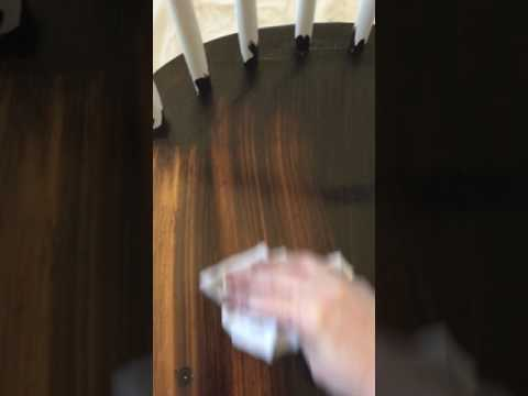 General Finishes Gel Stain in Java on Chair