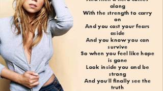 HERO-Mariah Carey (instrumental_ karaoke) w/ lyrics (sing along)