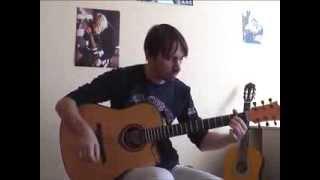 """Behind blue eyes"" - Limp Bizkit   guitar solo cover V.Troshchinkov   уроки гитары Киев и Skype"