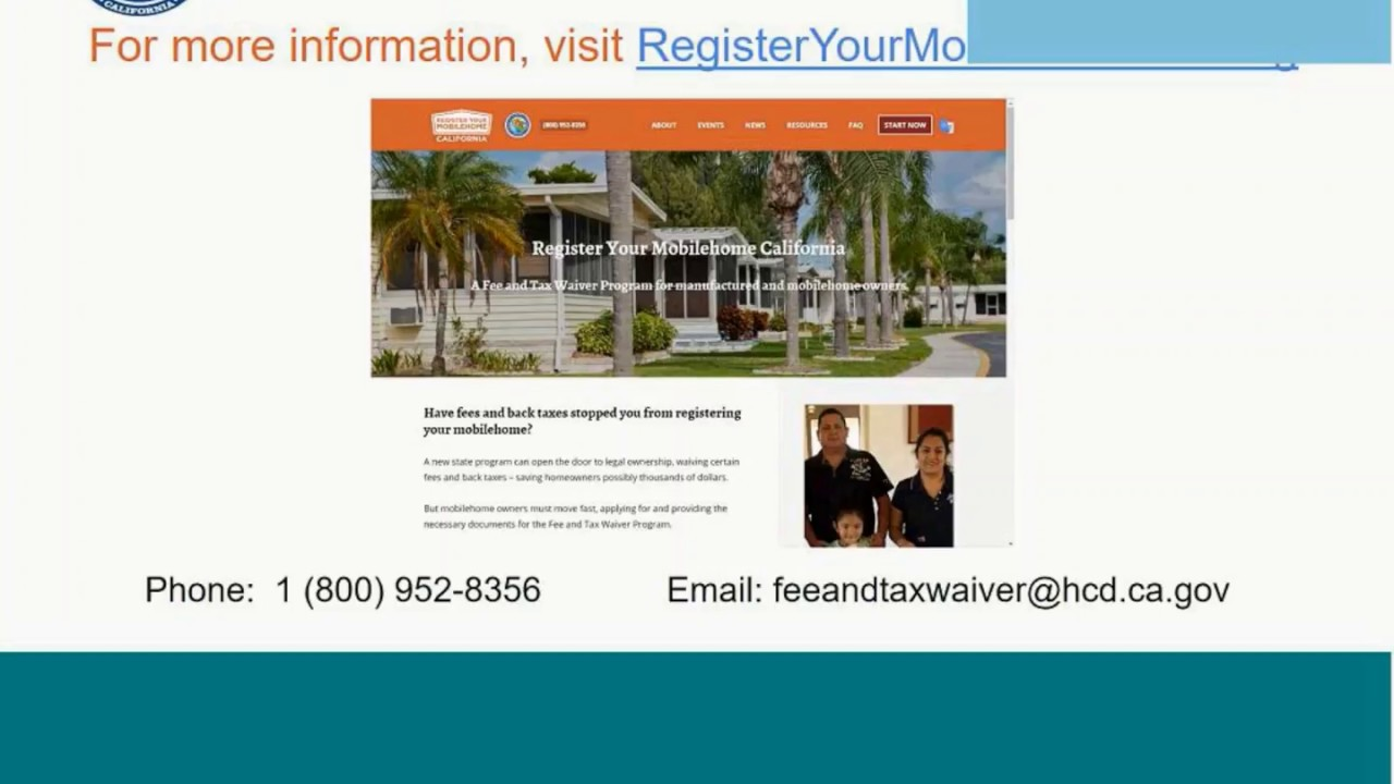 Fee and Tax Waiver Program Flyer We Buy Mobile Homes on for rent mobile homes, rent to own mobile homes, platinum mobile homes, vintage mobile homes,