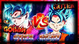 GOHAN VERSUS GOTEN! Stick Fight Game - THE STRONGEST BROTHER!?!?