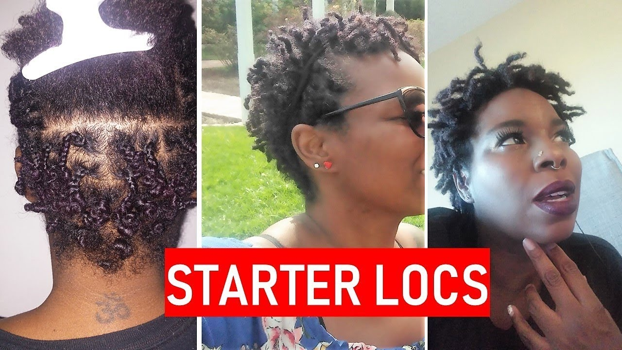 Starting Locs From 2 Strand Twists Locs On Short Hair Youtube