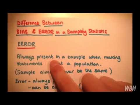 Difference Between Bias and Error in a Sampling Statistic