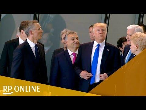 Trump drängelt: Szene vom Nato-Gipfel sorgt für Kritik