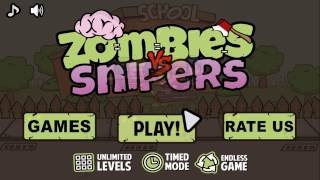 Zombie Defense Vs Snipers / Android Gameplay HD