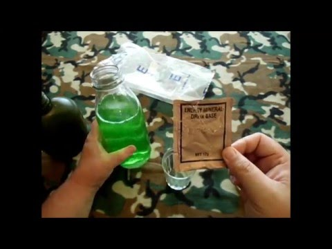 Energy Mineral drink base from 9yo Australian army ration pack (CR1M)