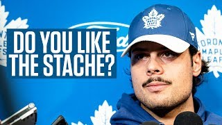 Here Is What Auston Matthews' Teammates Think Of His Moustache.